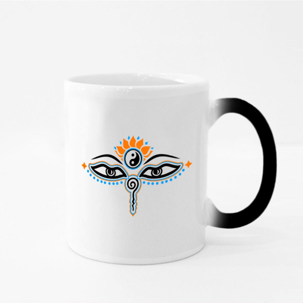 Yes of Buddha, Symbol Wisdom Magic Mugs