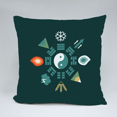 Bagua Scheme With Trigrams Throw Pillows