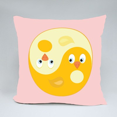 Bird Ying Yang of Harmony Throw Pillows