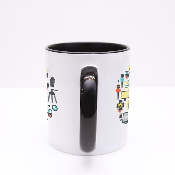 Flat Mass Media Round Concept Colour Mugs
