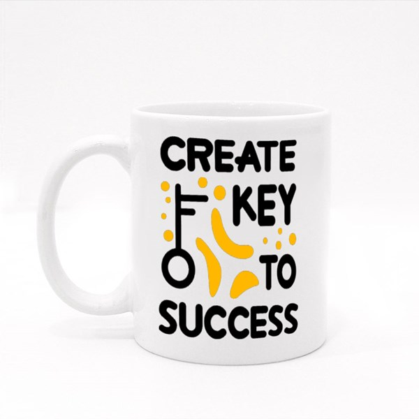 Create Key to Success Colour Mugs