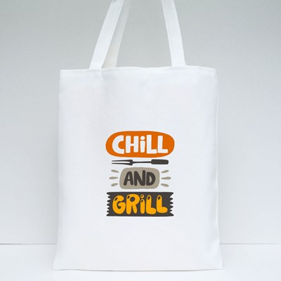 Chill and Grill Tote Bags