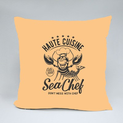 Haute Cuisine Sea Chef Throw Pillows