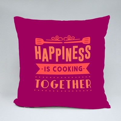 Happiness Is Cooking Together Throw Pillows