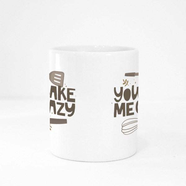 You Bake Me Crazy Colour Mugs