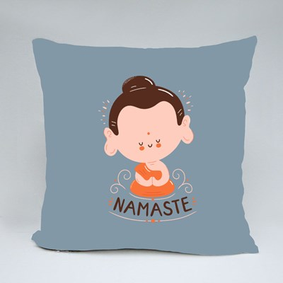Cute Happy Smiling Buddha Throw Pillows