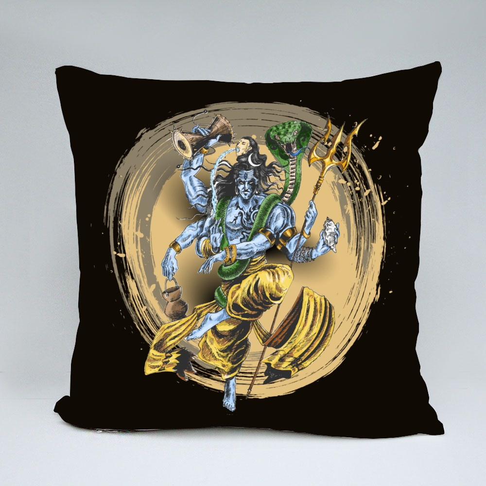 Lord Shiva Performing Dance Throw Pillows