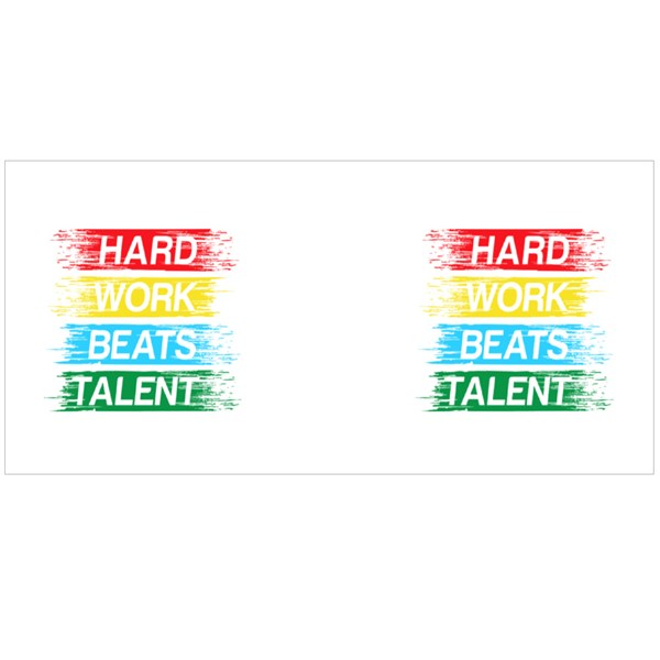 Hard Work Beats Talent Colour Mugs