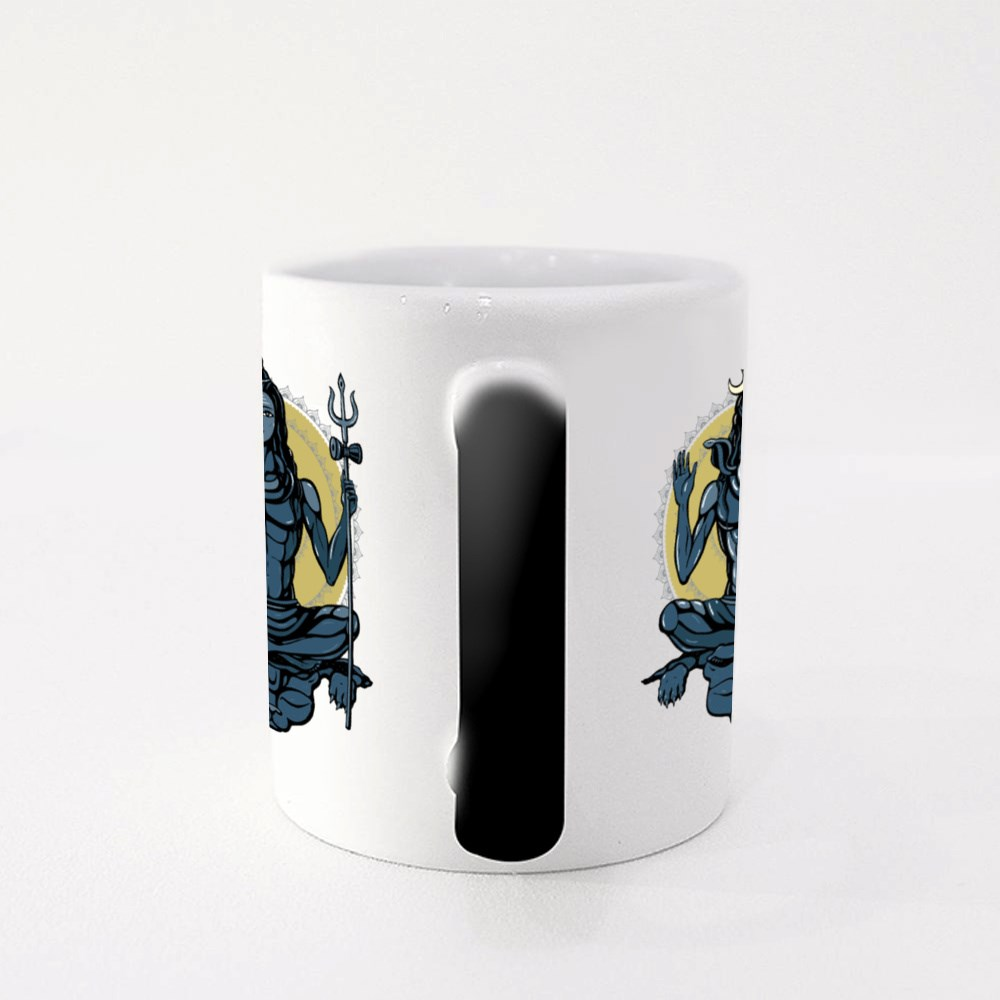 Lord Shiva Mandala Background Magic Mugs