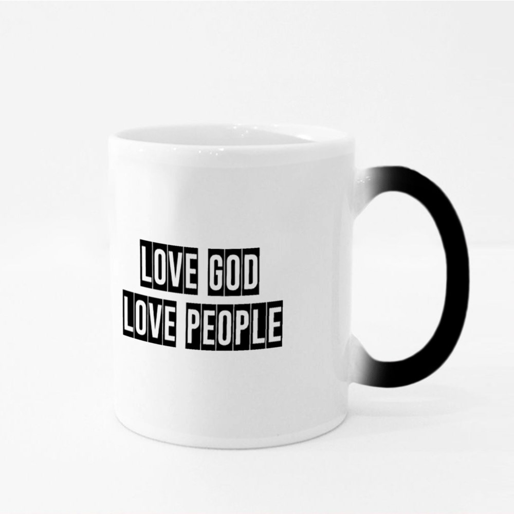 Love God Love People Magic Mugs