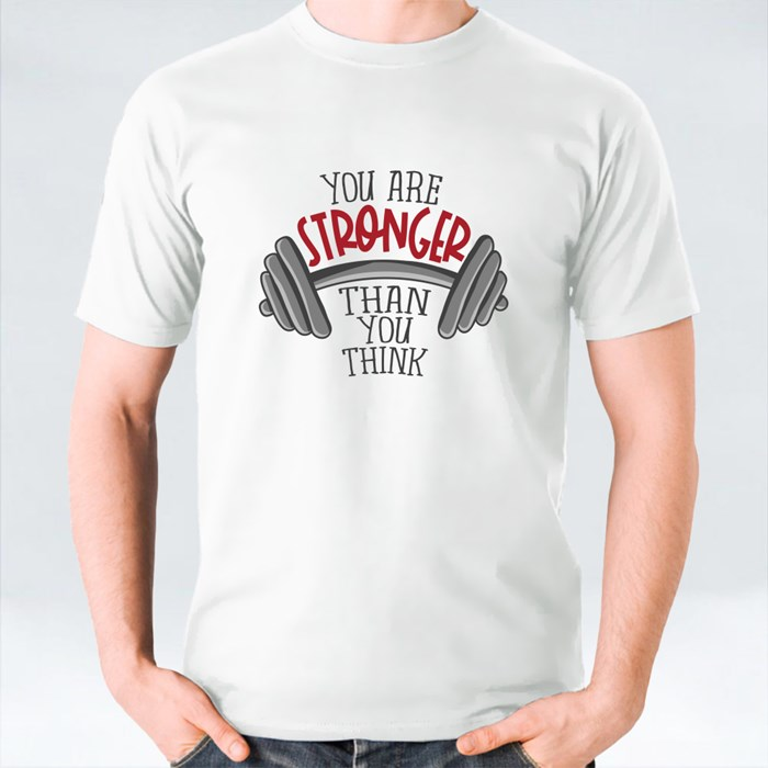 You Are Stronger Than You Think Dumbbell T-Shirts