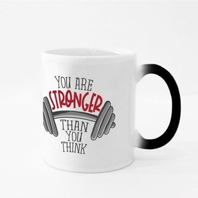 You Are Stronger Than You Think Dumbbell Magic Mugs