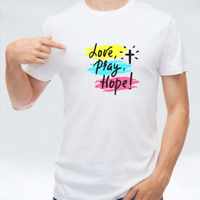 Love Pray and Hope T-Shirts