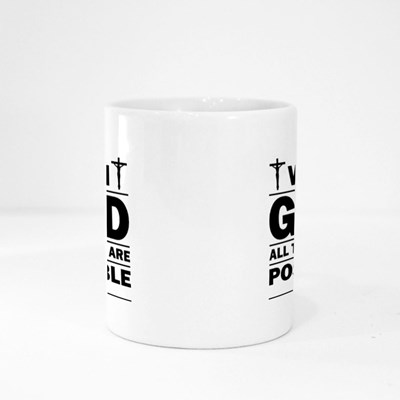 With God All Things Possible Magic Mugs