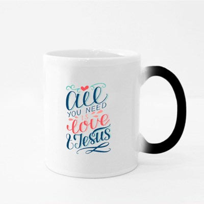 All You Need Is Love and Jesus Magic Mugs