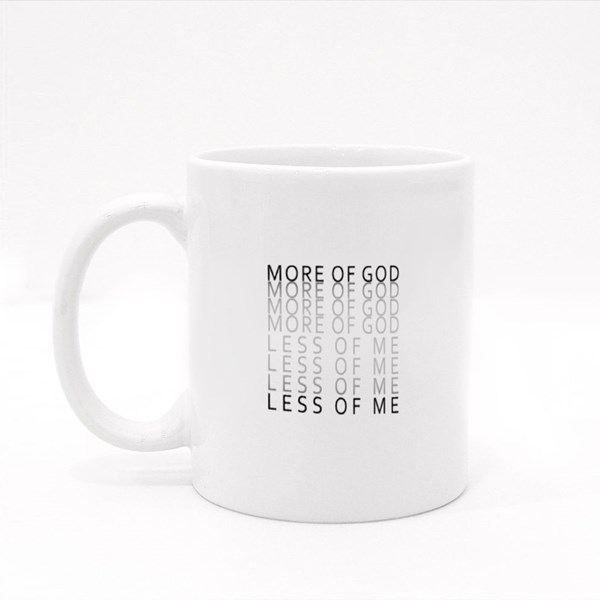 More of God Less of Me Colour Mugs