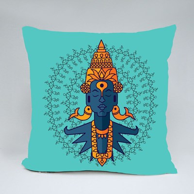 Indian God Vitobha Throw Pillows