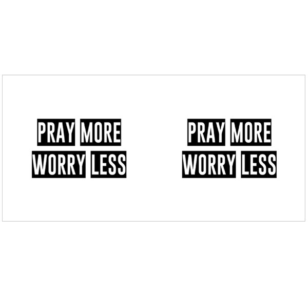 Pray More Worry Less Colour Mugs
