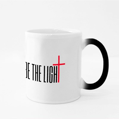 Be the Light With a Cross Magic Mugs