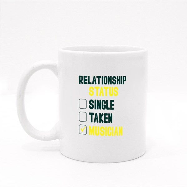 Relationship Status Single Colour Mugs