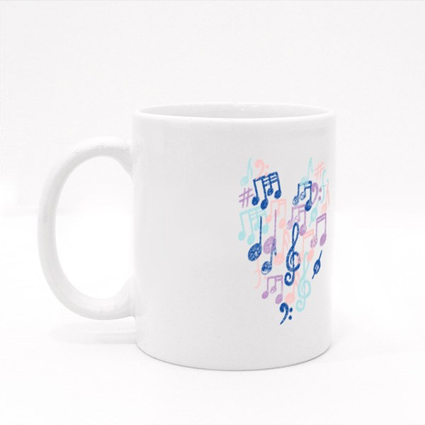Music Notes Pattern Colour Mugs