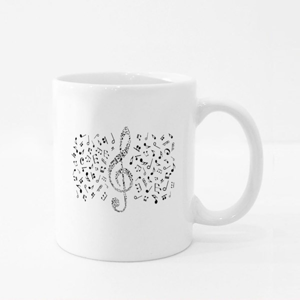 Treble Clef Compounded Colour Mugs