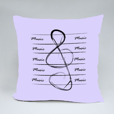 Musical Background With Treble Throw Pillows