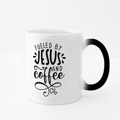 Fueled by Jesus and Coffee Magic Mugs