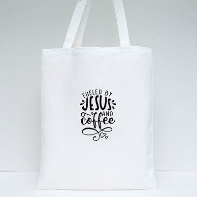 Fueled by Jesus and Coffee Tote Bags
