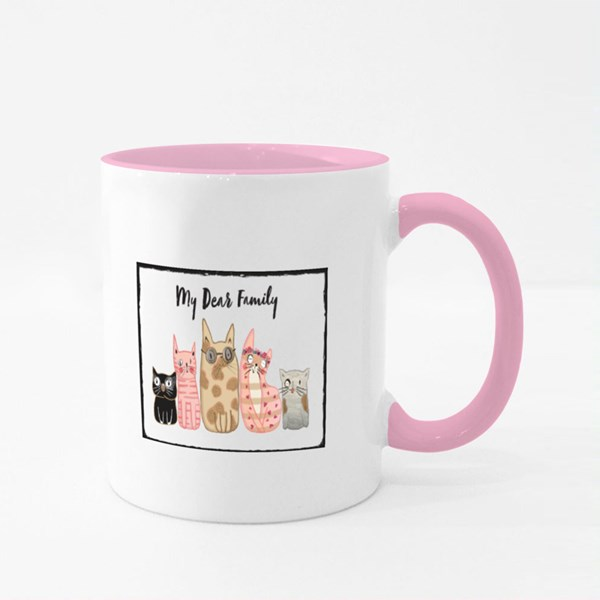 My Dear Family Cats Colour Mugs