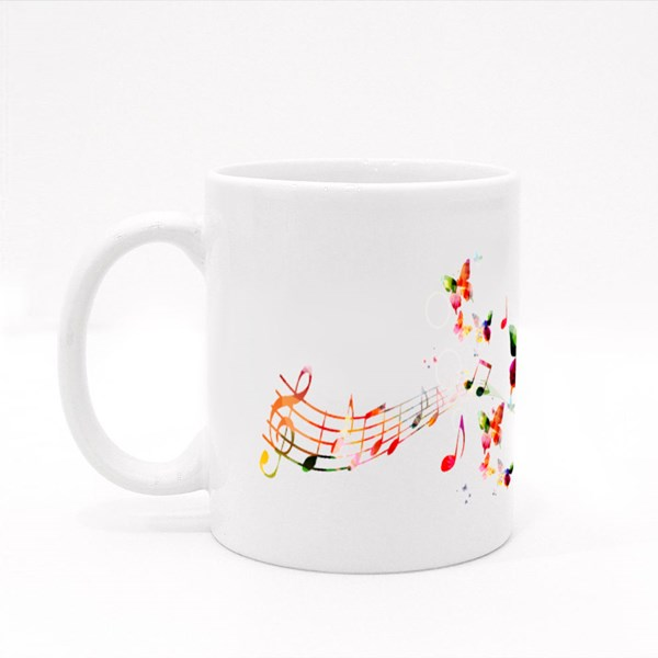 Background With Music Colour Mugs