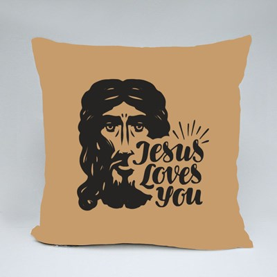Jesus Loves You Throw Pillows