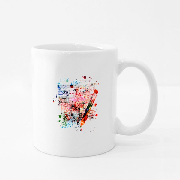Colorful Pencil With Musical Colour Mugs