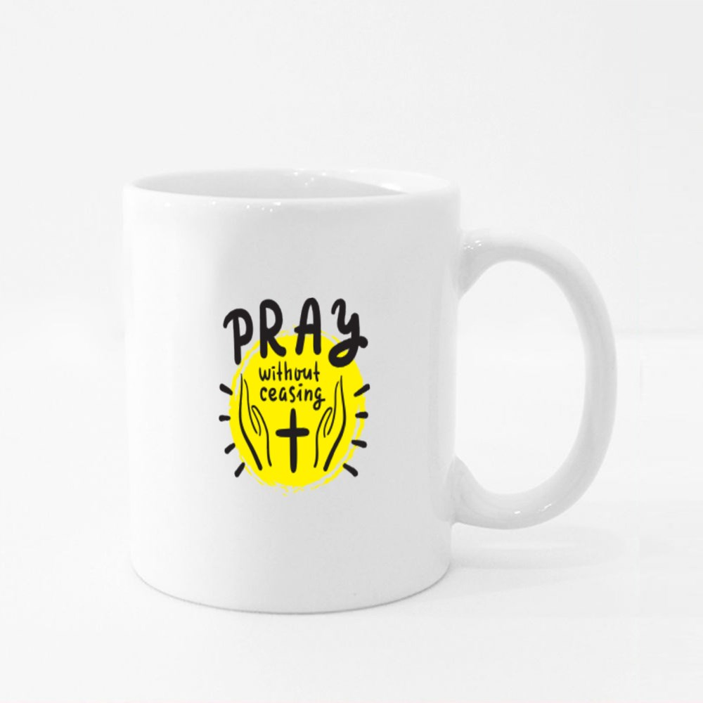 Pray Without Ceasing Colour Mugs