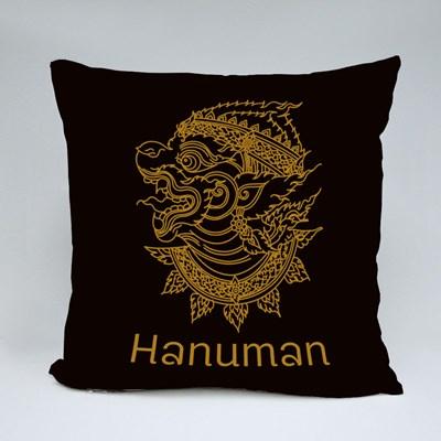 Hanuman in Shadow Puppet Style Throw Pillows