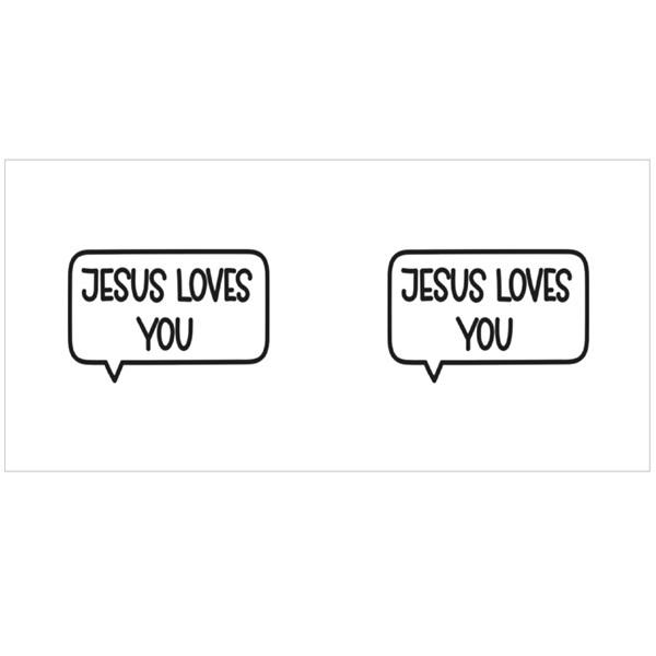 Jesus Loves You Colour Mugs