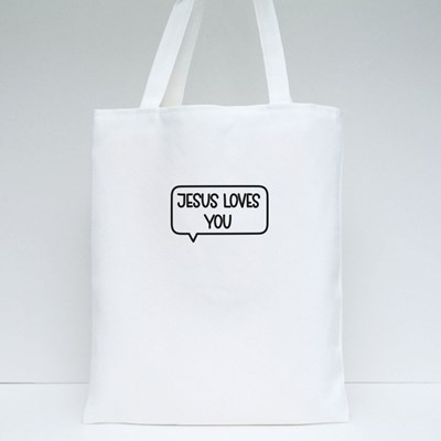 Jesus Loves You Tote Bags