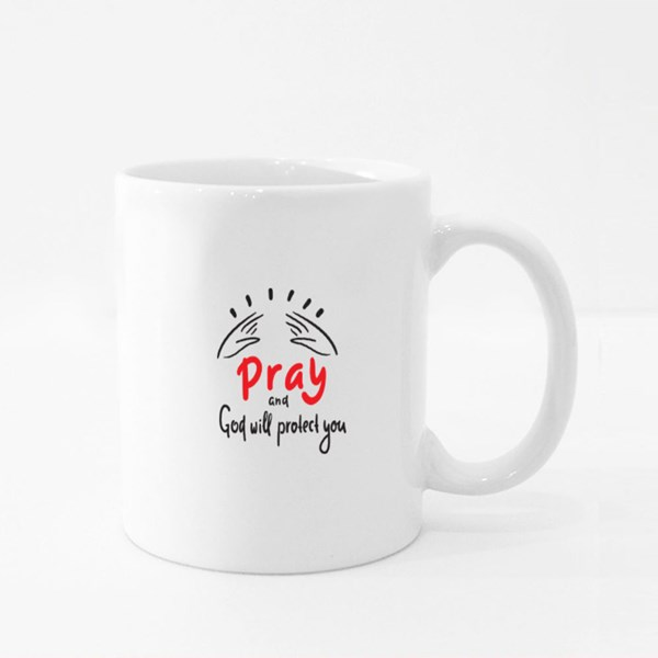 Pray and God Will Protect You Colour Mugs