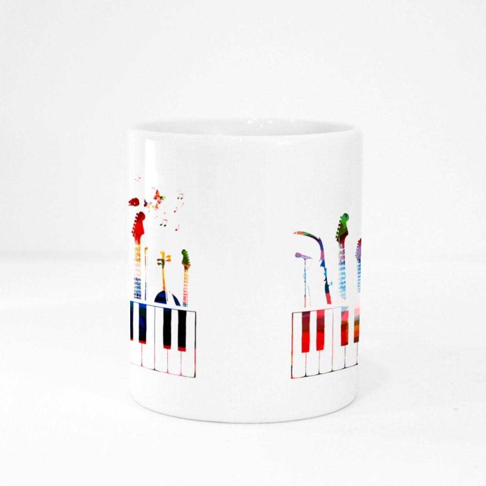 Colorful Music Instruments Colour Mugs