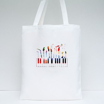 Colorful Music Instruments Tote Bags