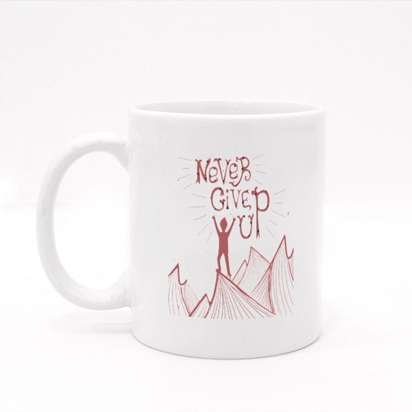 Never Give up  Inspiration Colour Mugs