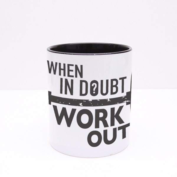 When in Doubt, Workout Colour Mugs