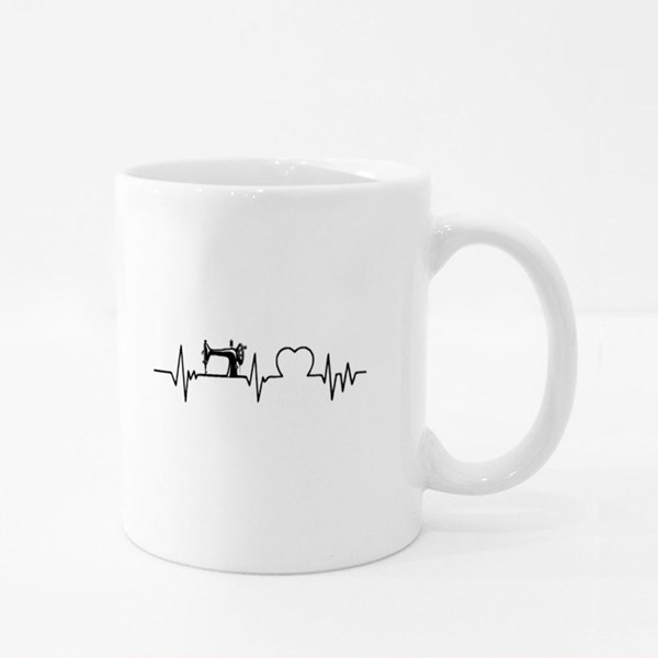 Sewing Heartbeat Colour Mugs