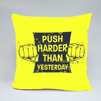Fitness Motivational Quote Throw Pillows