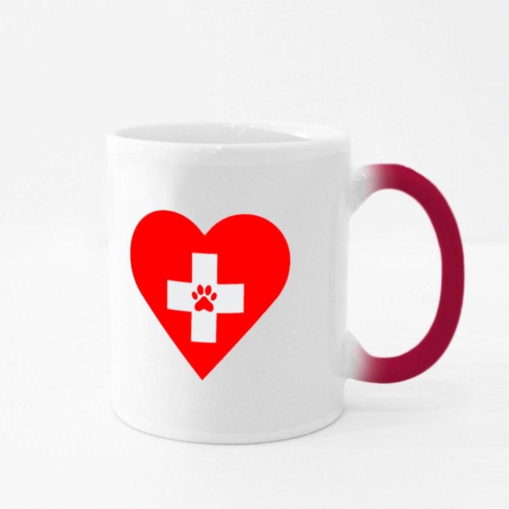 Veterinary First Aid Heart Magic Mugs