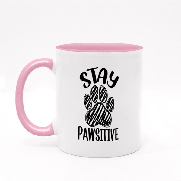 Stay Pawsitive With Cute Paw Colour Mugs