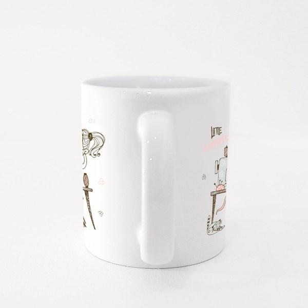Cute Girl Seamstress Colour Mugs