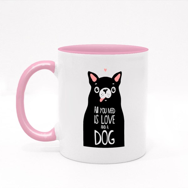 All You Need Is Love and Dog Colour Mugs