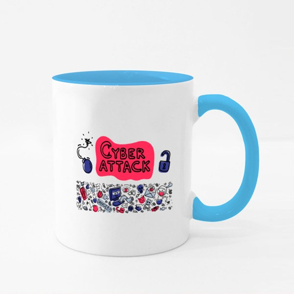 Cyber Attack Theft Colour Mugs