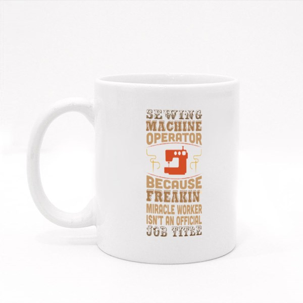Sewing Machine Operator Colour Mugs